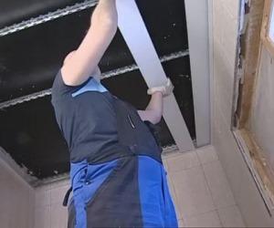 Монтаж підвісної рейкової стелі своїми руками
