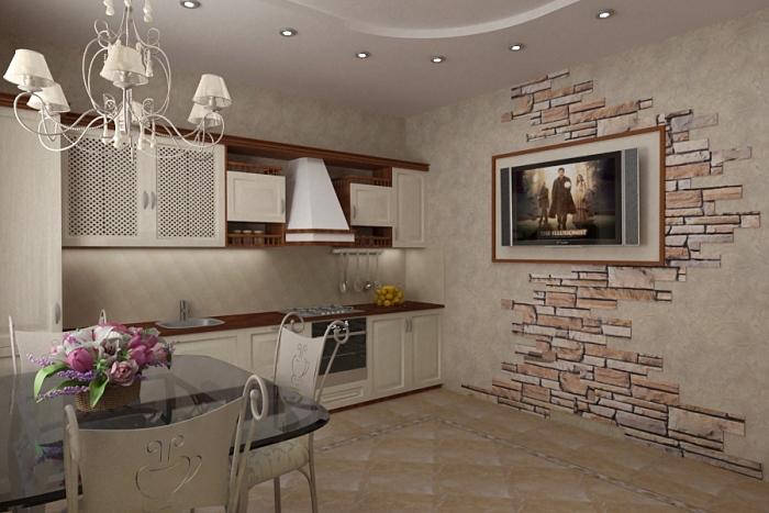 камень на кухне