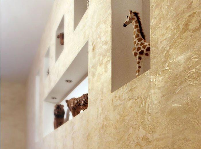 Структурная штукатурка стен
