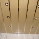 Какой реечный потолок установить в ванную комнату