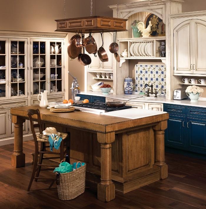 открытые кухонные шкафы в стиле прованс