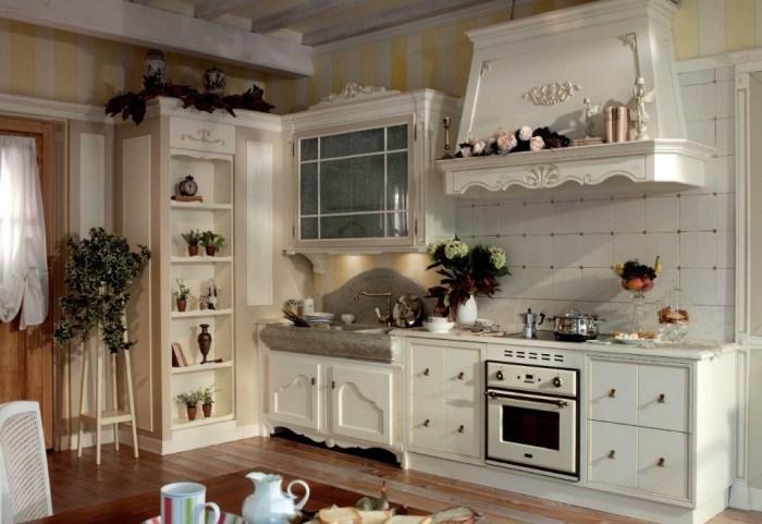аксессуары стиля прованс на кухне
