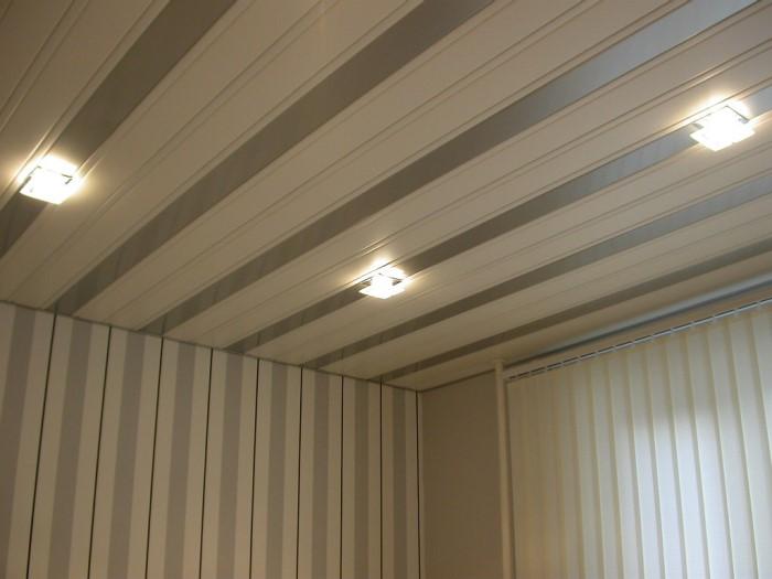 закрытый реечный потолок