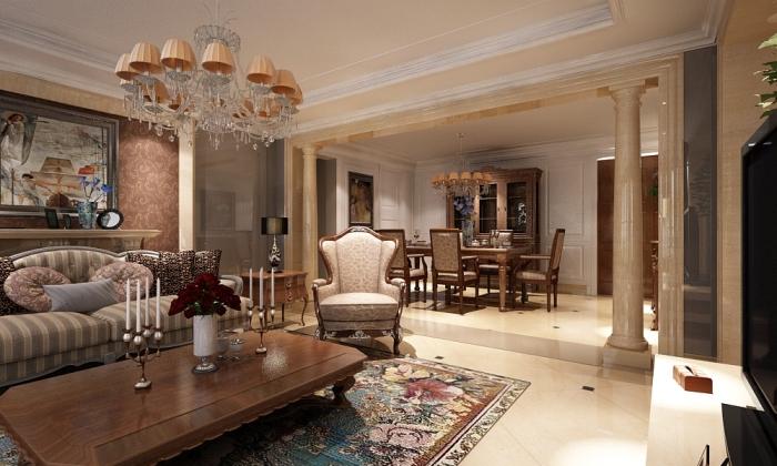гостиная античного стиля