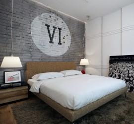 Спальня в стиле лофт: просторный уют