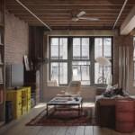 Гостиная в стиле лофт: простор и функциональность