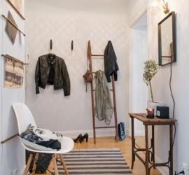 Прихожая в скандинавском стиле — простота и практичность