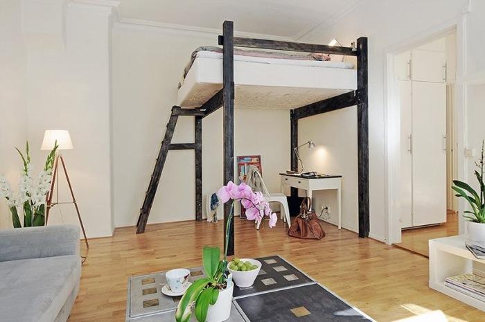 Стиль лофт в интерьере маленькой квартиры
