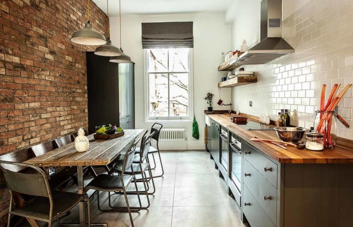 дизайн лофт на кухне