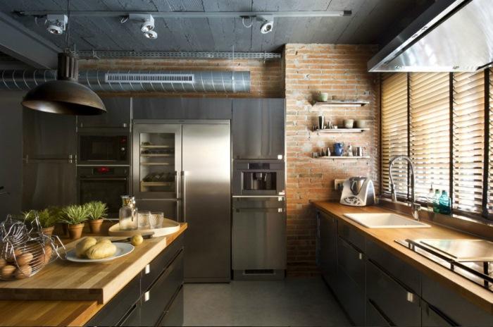 индустриальная кухня