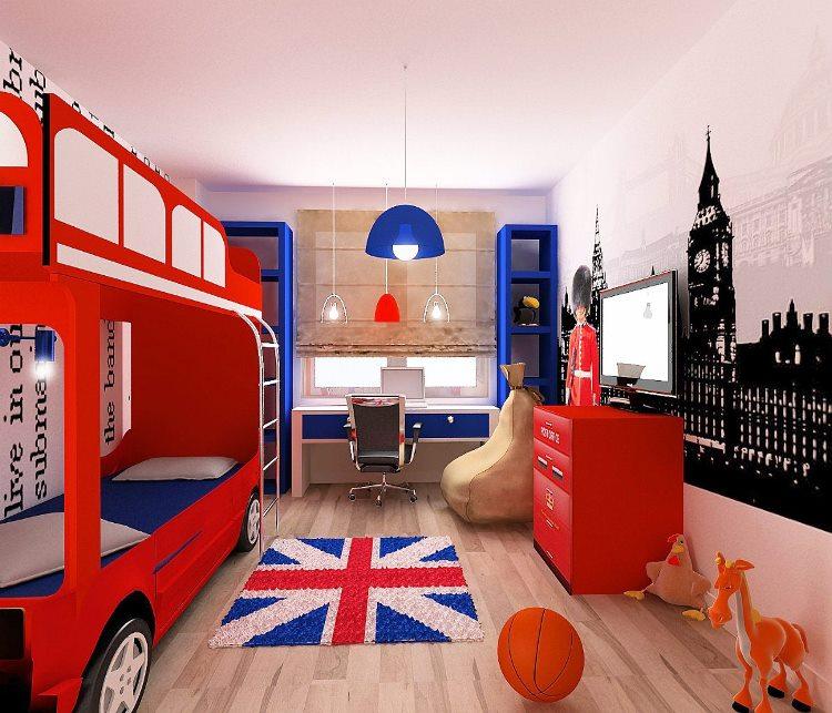 детская комната в стиле лондон