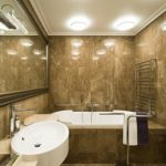 Світильник в ванну кімнату стельовий: норми безпеки і розташування