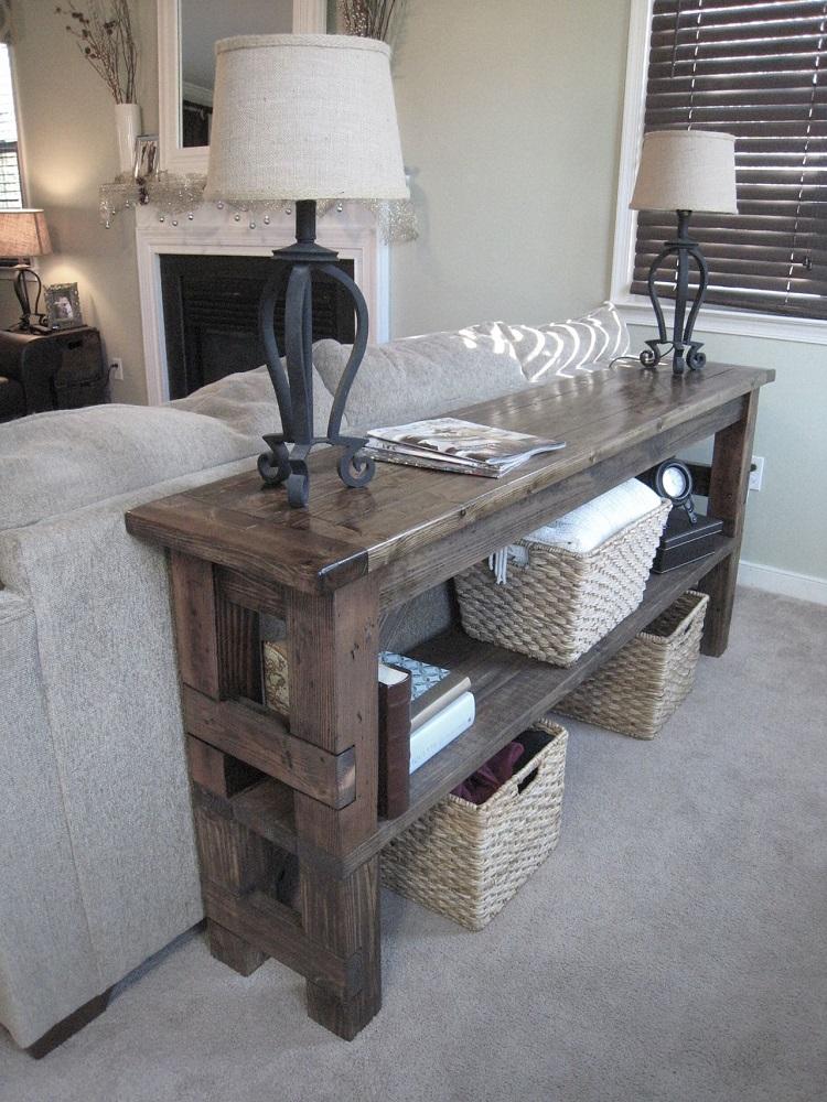 столик из массива в интерьере